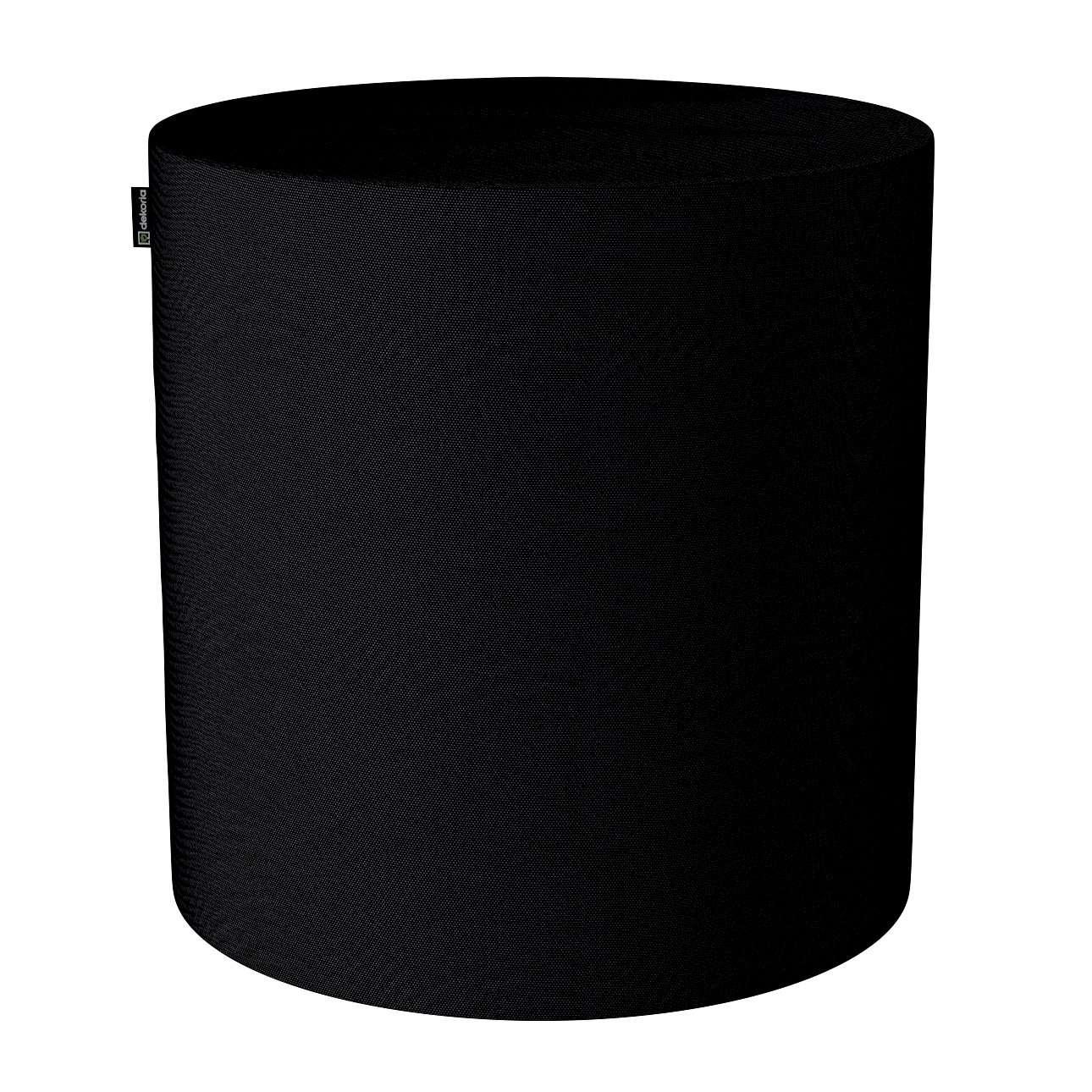 Pouf Barrel, schwarz, ø40 × 40 cm, Etna (705-00) günstig online kaufen