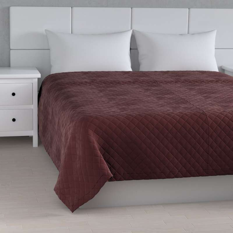 Velvet diamond quilted throw in collection Velvet, fabric: 704-26