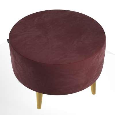 Podnóżek okrągły Velvet w kolekcji Velvet, tkanina: 704-26