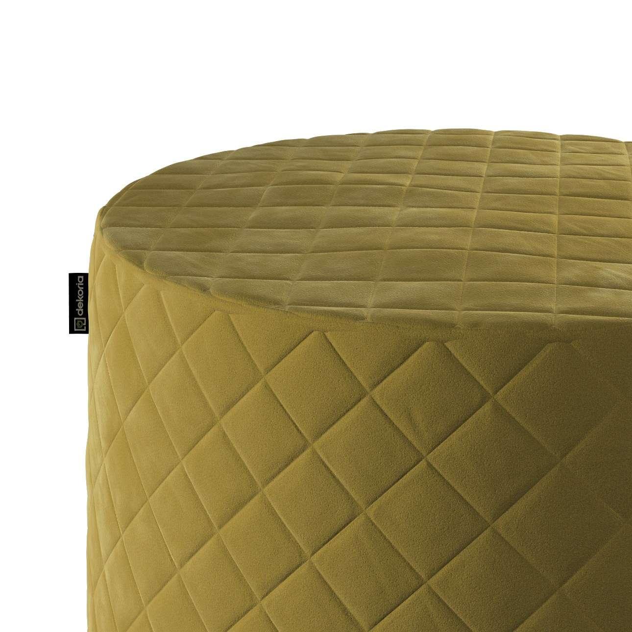 Taburetka valec - prešívaná do kosoštvorcov V kolekcii Velvet, tkanina: 704-27