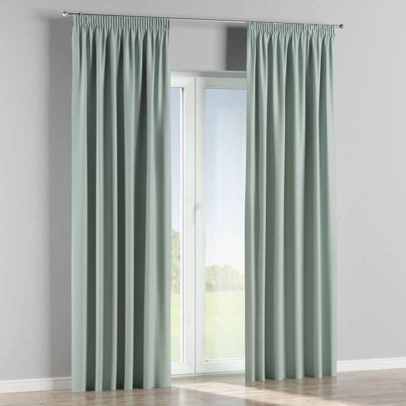Blackout pencil pleat curtains in collection Blackout, fabric: 269-61
