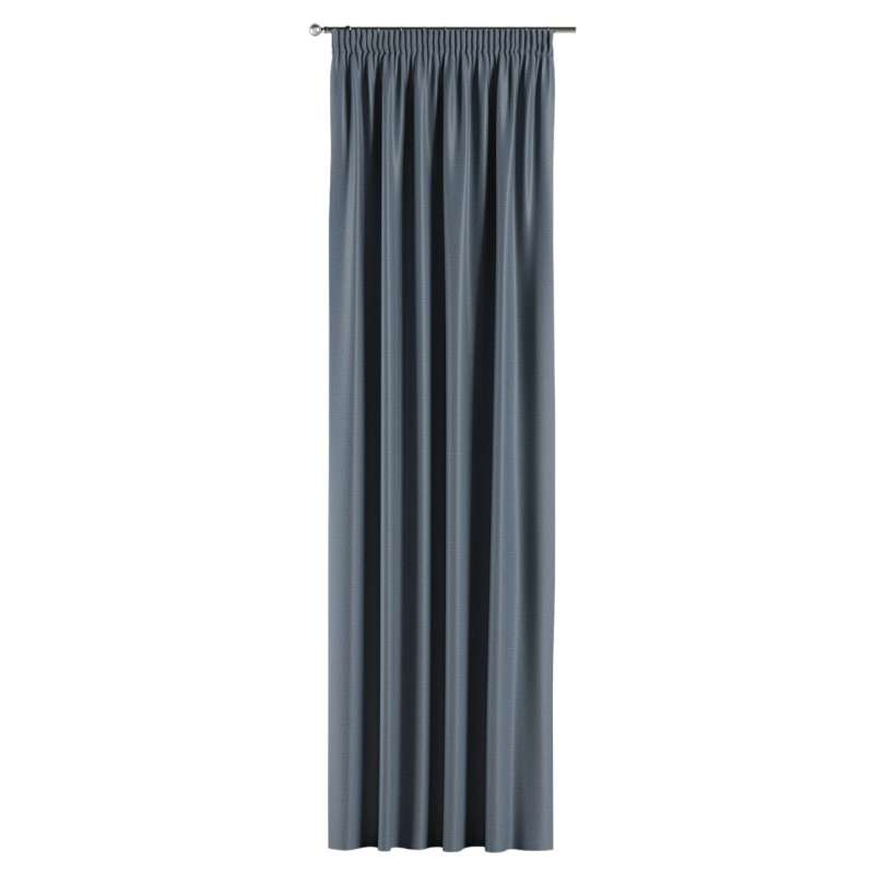 Blackout pencil pleat curtains in collection Blackout, fabric: 269-67