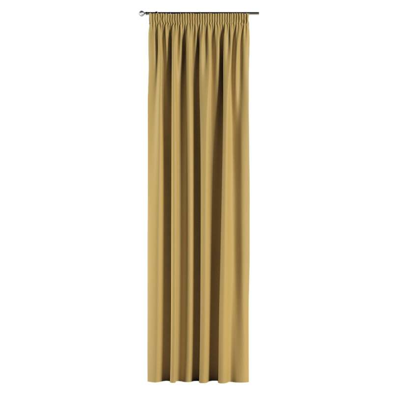 Blackout pencil pleat curtains in collection Blackout, fabric: 269-68