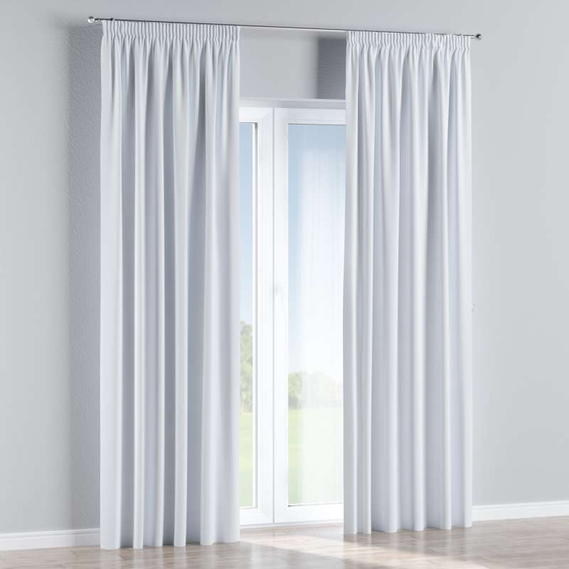 Blackout pencil pleat curtains in collection Blackout, fabric: 269-01