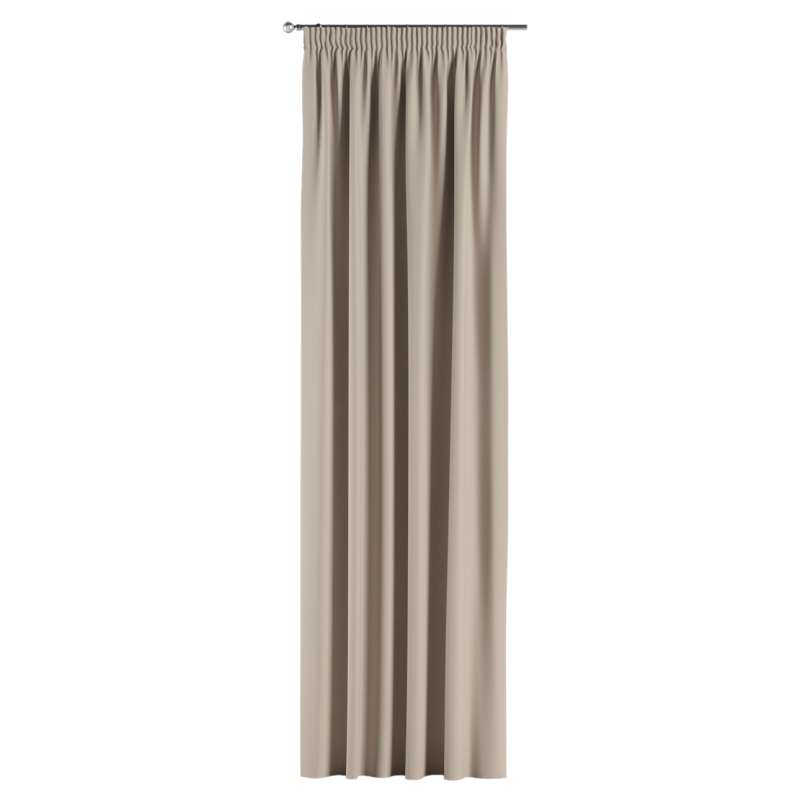 Blackout pencil pleat curtains in collection Blackout, fabric: 269-00