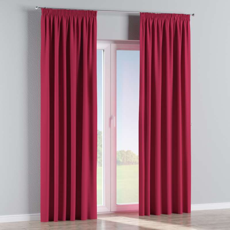 Blackout pencil pleat curtains in collection Blackout, fabric: 269-51