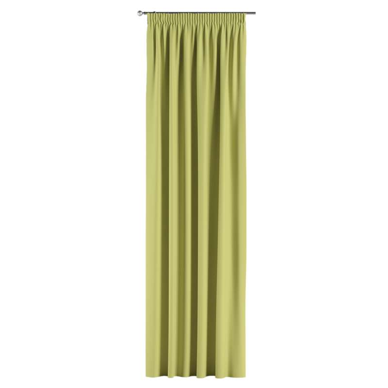 Blackout pencil pleat curtains in collection Blackout, fabric: 269-17