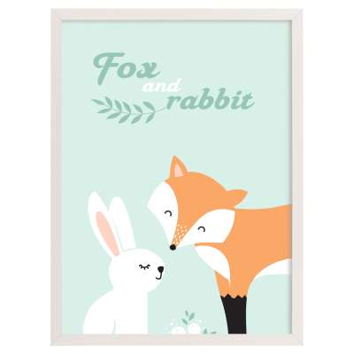 Obrazek Forest Friends fox&rabbit 30x40cm
