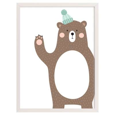 Obrazek Forest Friends bear 30x40cm