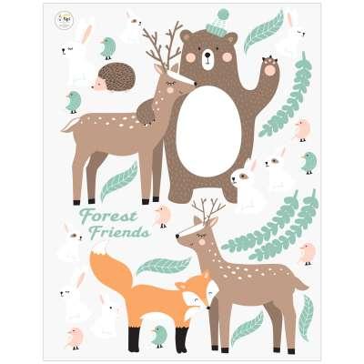 Zestaw naklejek Forest Friends