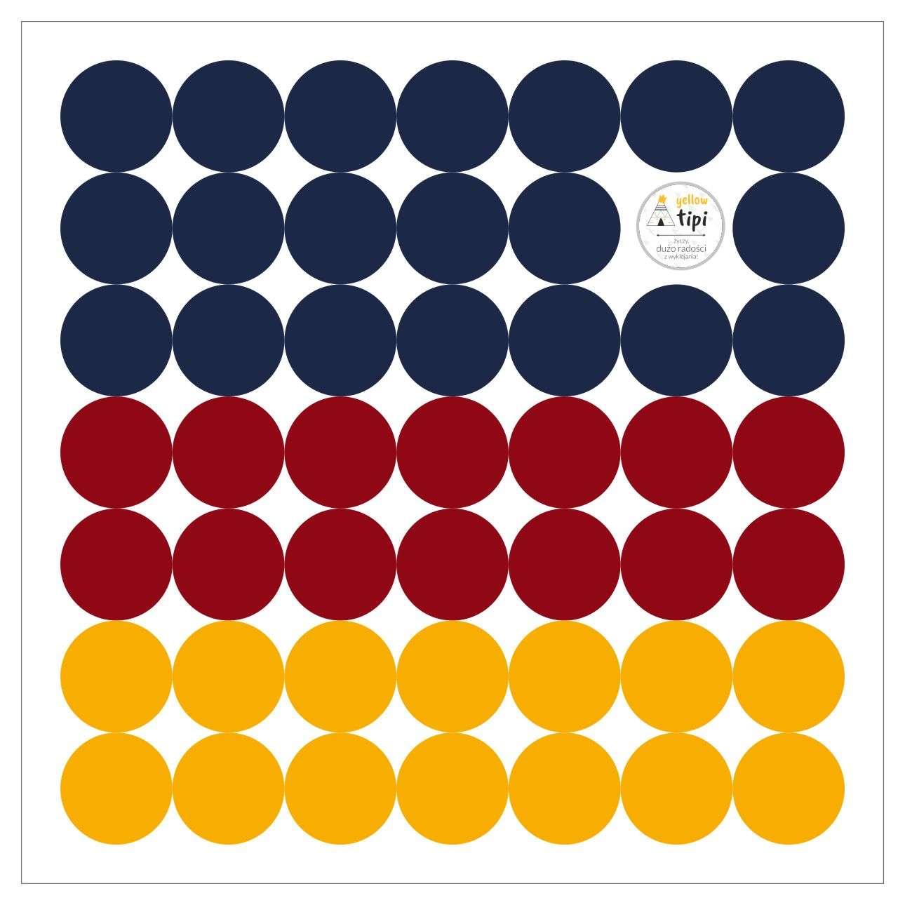 Zestaw naklejek Mini Dots intense tone