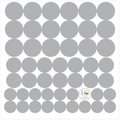 Aufkleber-Set Mini Dots gray tone