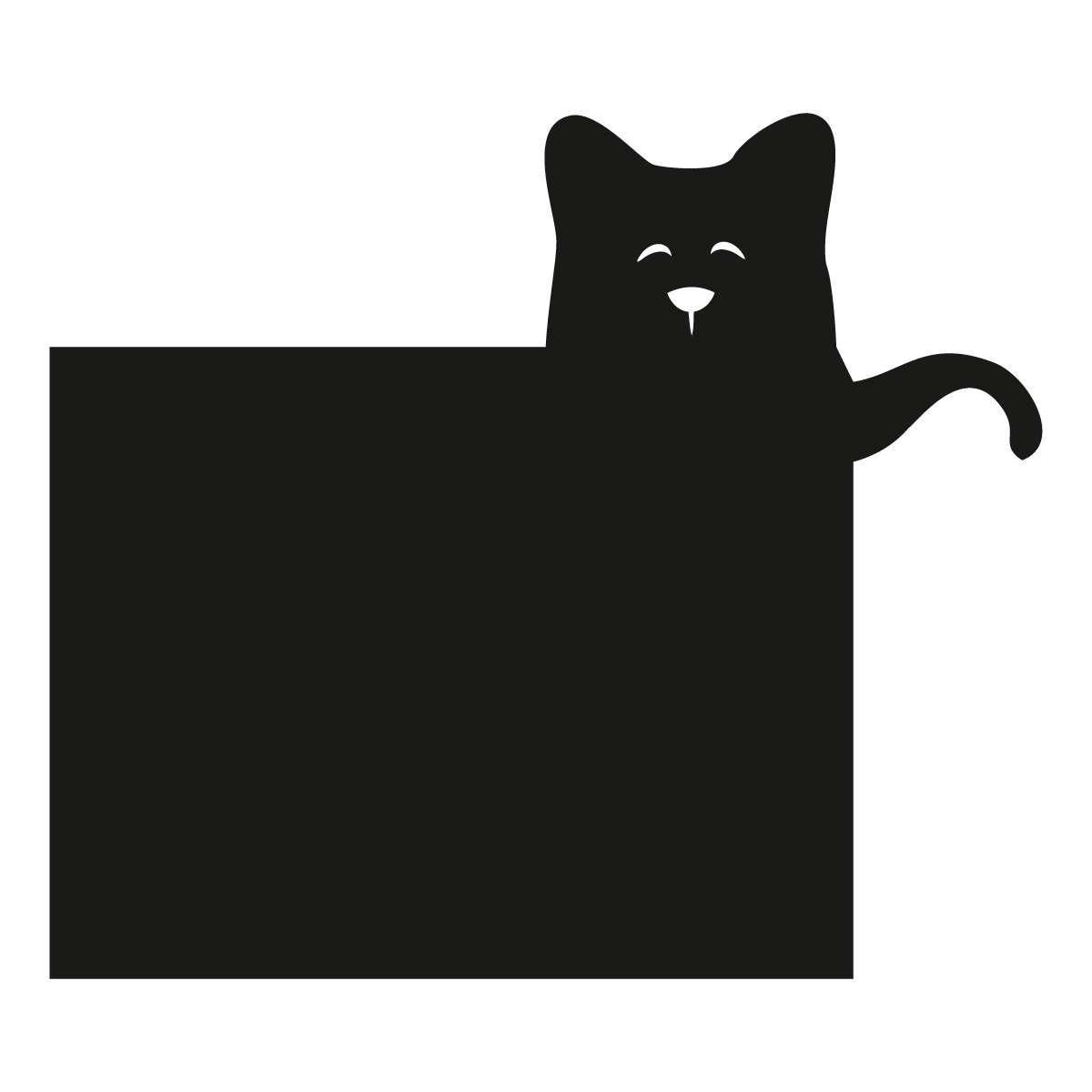 Naklejka tablicowa Funny Band cat