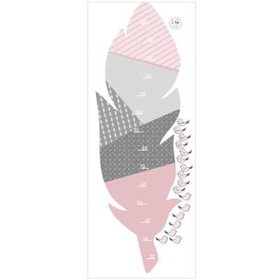 Naklejka miarka Feather rose