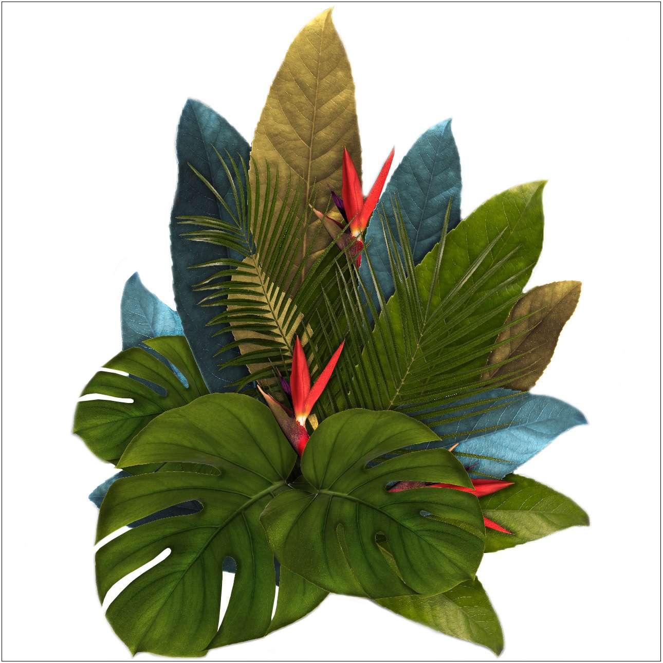 Naklejka Jungle Leaves