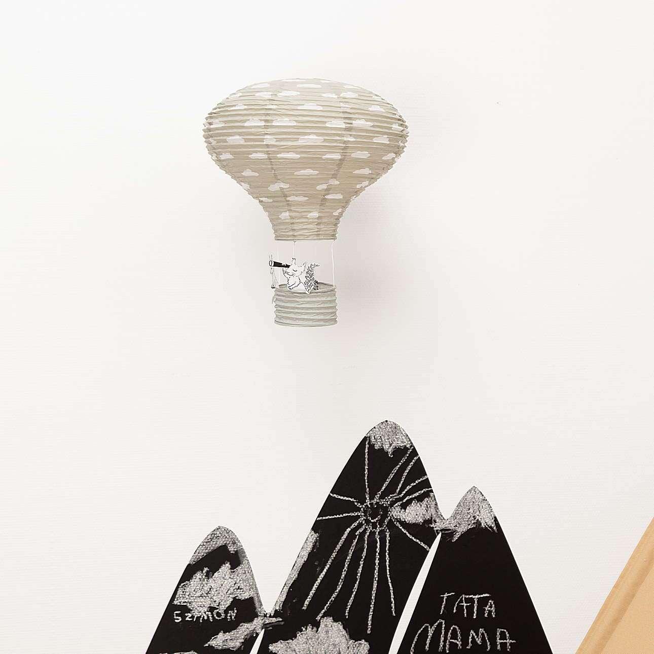Dekoracja wisząca Balloon gray