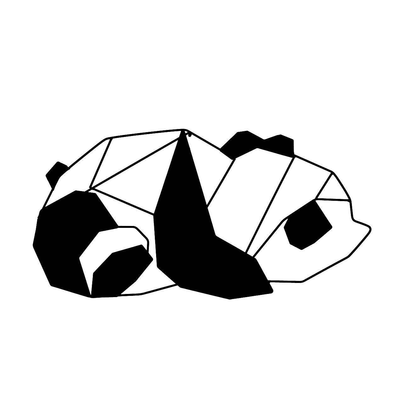 Dekoracja Geometric Panda I