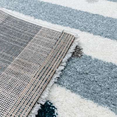 Teppich Stripes and Dots blue 160x230cm