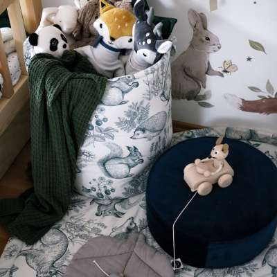 Kosz na zabawki Tobi w kolekcji Cotton Story, tkanina: 702-01