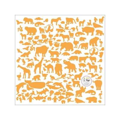 Naklejki World Animals Yellow