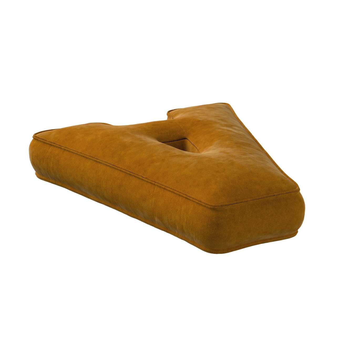 Poduszka literka A w kolekcji Posh Velvet, tkanina: 704-23