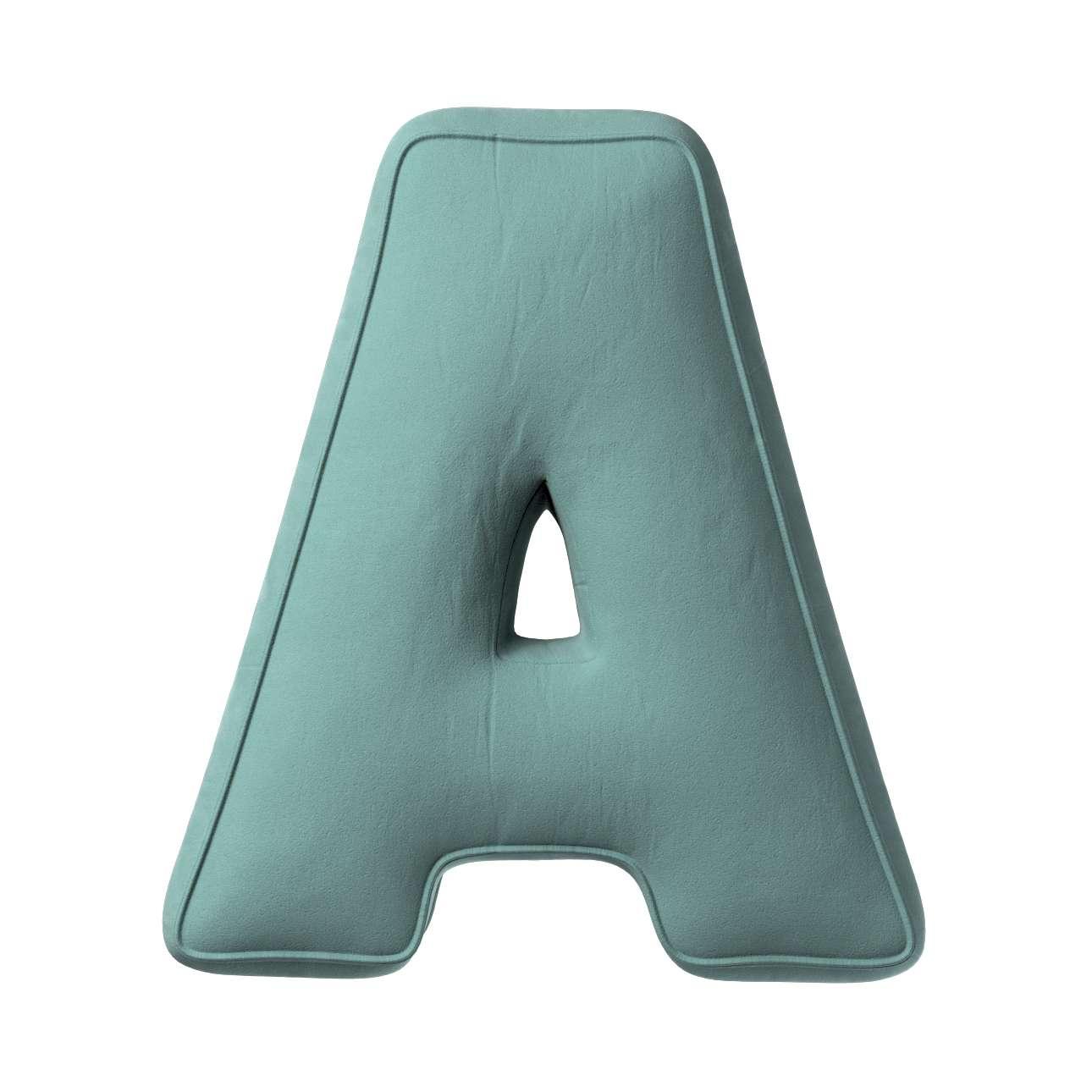 Buchstabenkissen A von der Kollektion Posh Velvet, Stoff: 704-18