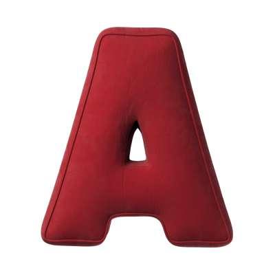 Buchstabenkissen A von der Kollektion Posh Velvet, Stoff: 704-15