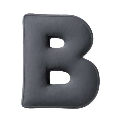 Buchstabenkissen B von der Kollektion Posh Velvet, Stoff: 704-12