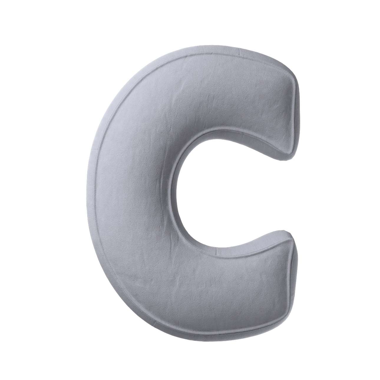 Buchstabenkissen C von der Kollektion Posh Velvet, Stoff: 704-24