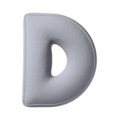 Buchstabenkissen D von der Kollektion Posh Velvet, Stoff: 704-24
