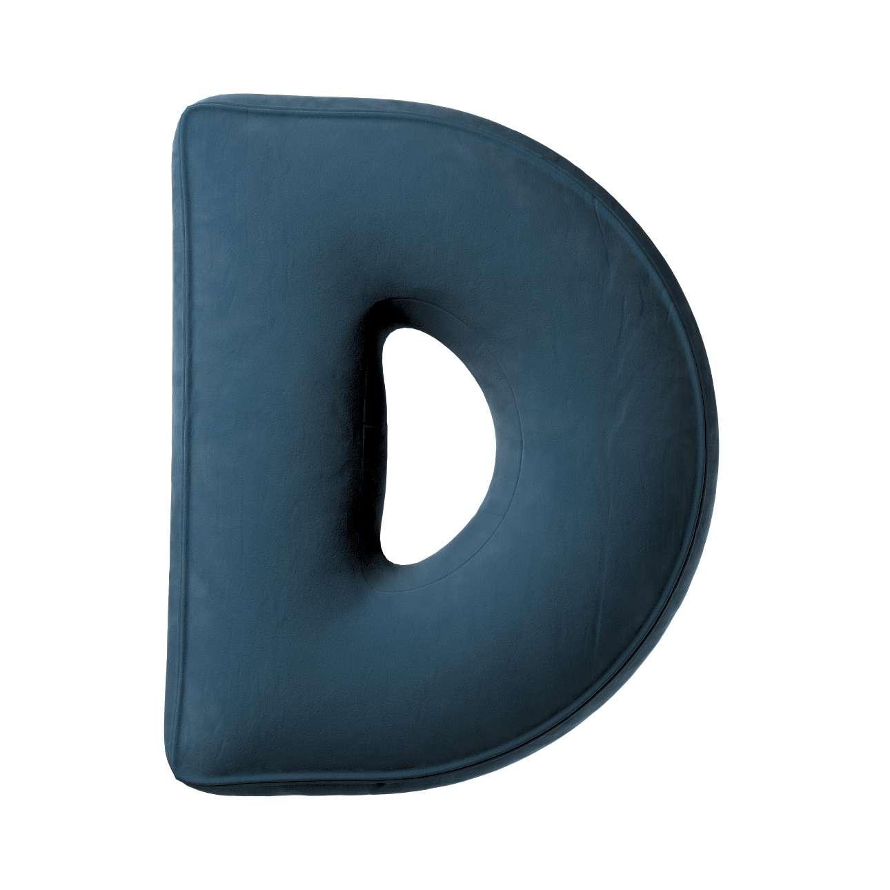 Buchstabenkissen D von der Kollektion Posh Velvet, Stoff: 704-16