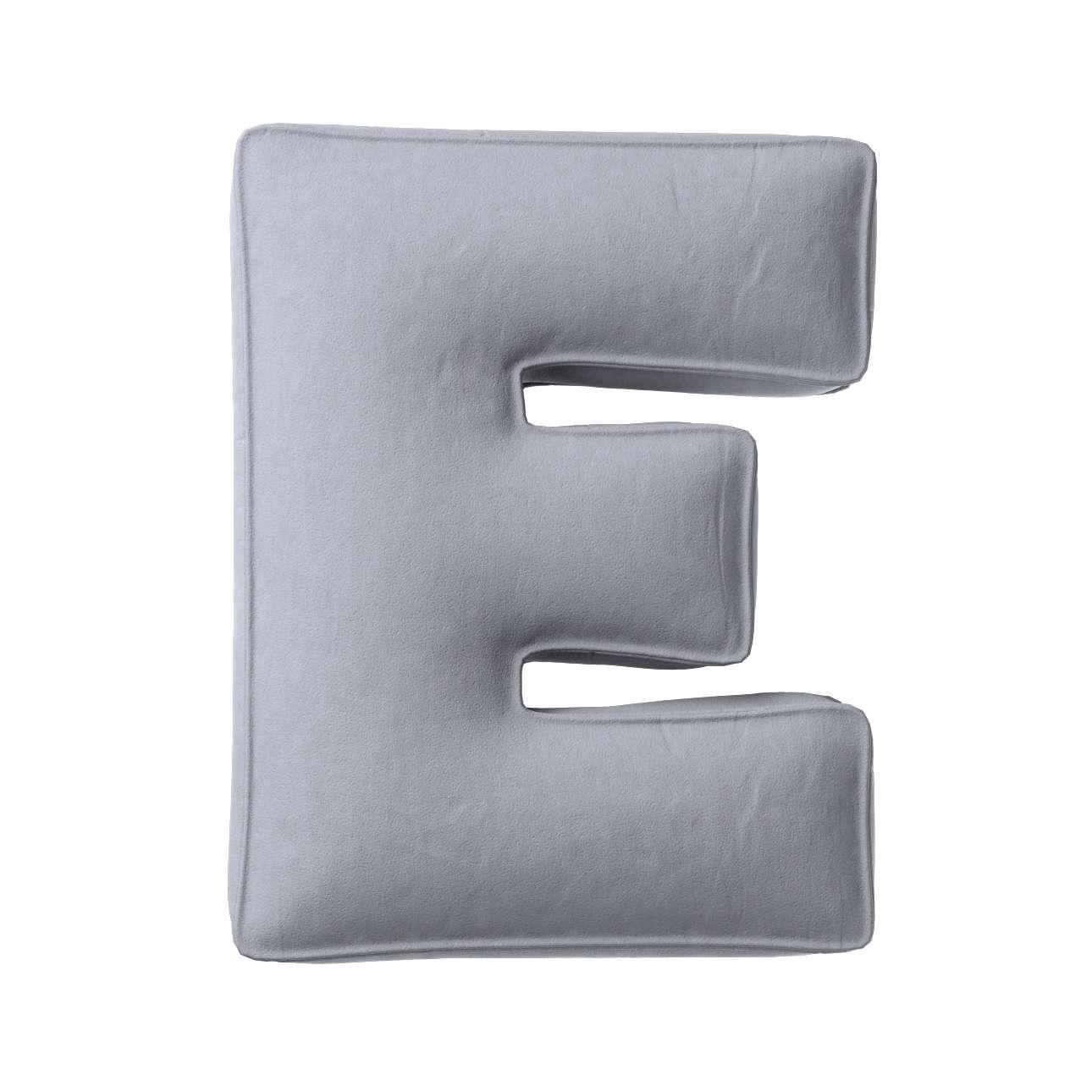 Buchstabenkissen E von der Kollektion Posh Velvet, Stoff: 704-24