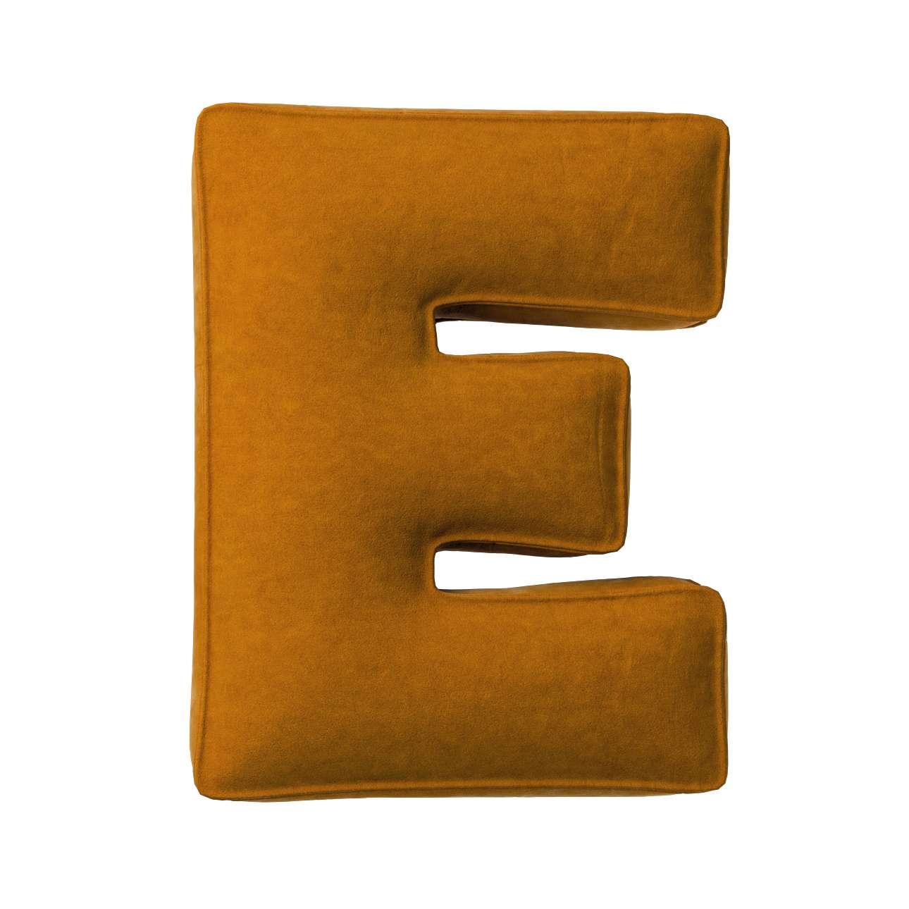 Buchstabenkissen E von der Kollektion Posh Velvet, Stoff: 704-23