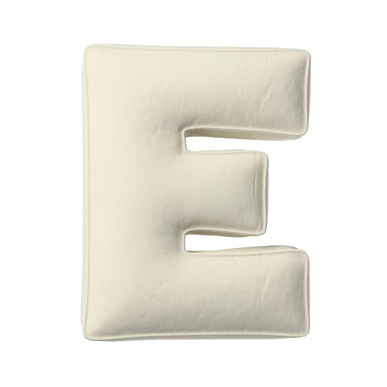 Buchstabenkissen E von der Kollektion Posh Velvet, Stoff: 704-10