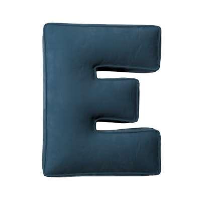 Buchstabenkissen E von der Kollektion Posh Velvet, Stoff: 704-16