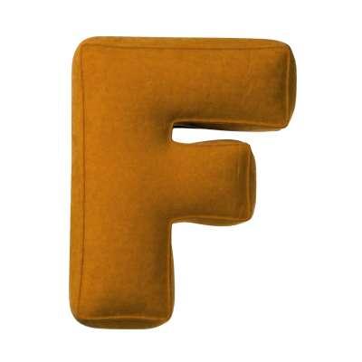 Poduszka literka F w kolekcji Posh Velvet, tkanina: 704-23