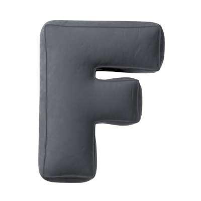 Buchstabenkissen F von der Kollektion Posh Velvet, Stoff: 704-12