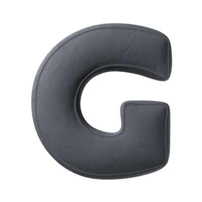 Buchstabenkissen G von der Kollektion Posh Velvet, Stoff: 704-12