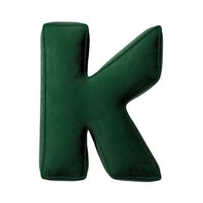 Buchstabenkissen K von der Kollektion Posh Velvet, Stoff: 704-13