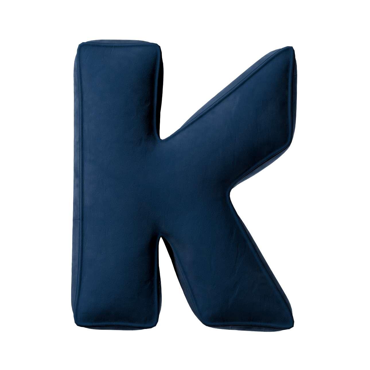 Buchstabenkissen K von der Kollektion Posh Velvet, Stoff: 704-29