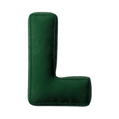 Buchstabenkissen L von der Kollektion Posh Velvet, Stoff: 704-13