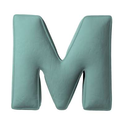 Buchstabenkissen M von der Kollektion Posh Velvet, Stoff: 704-18