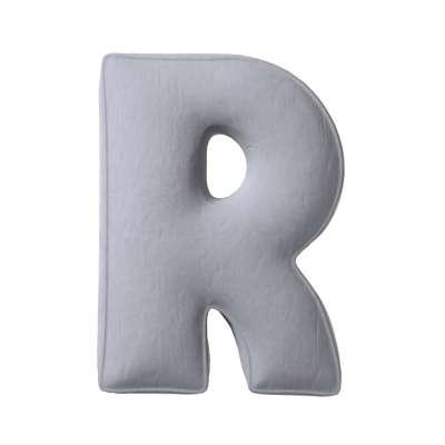 Buchstabenkissen R von der Kollektion Posh Velvet, Stoff: 704-24