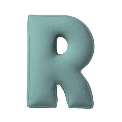 Buchstabenkissen R von der Kollektion Posh Velvet, Stoff: 704-18