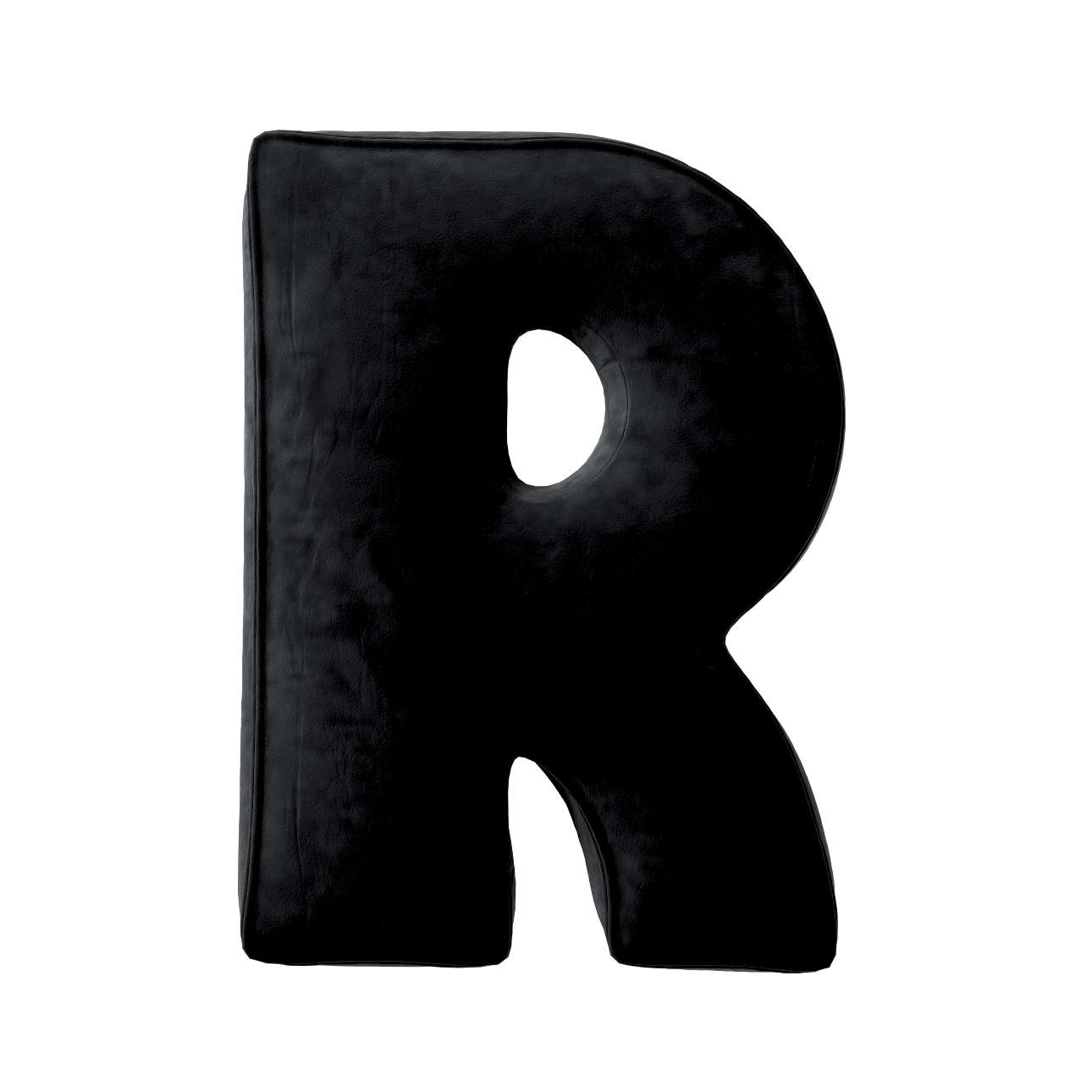 Buchstabenkissen R von der Kollektion Posh Velvet, Stoff: 704-17