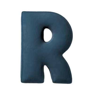 Buchstabenkissen R von der Kollektion Posh Velvet, Stoff: 704-16