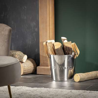 Pojemnik na drewno Wood Silver II