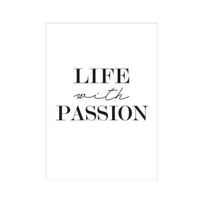 Poster Passion Black