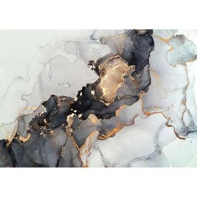 Obraz na plátně Black&Gold Abstraction