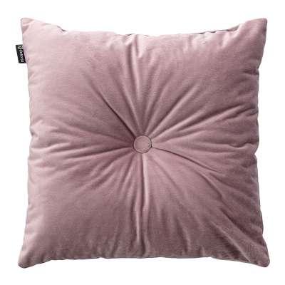 Poduszka kwadratowa Velvet z guzikiem w kolekcji Velvet, tkanina: 704-14